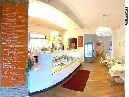 Nachweisbar sehr guter Umsatz- Eiscafé mit Vollkonzession