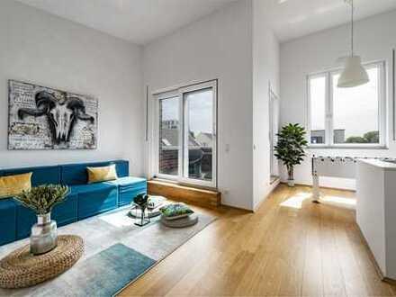 """Im Wohnquartier """"Freiraum"""" Düsseldorf Bilk wird das Feeling Stadthaus sicher erlebbar."""