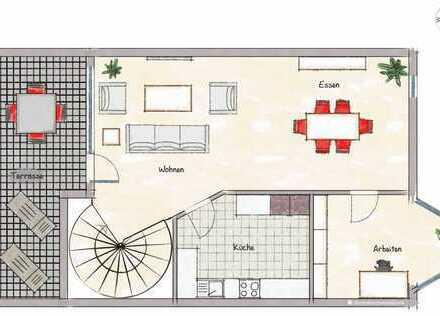 Gepflegte 4-Zimmer-Maisonette-Wohnung mit Balkon und EBK in Heidelberg