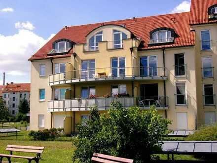 Hübsche 1-Raumwohnung mit Südterrasse, großem Gartenanteil und EBK in Leutzsch