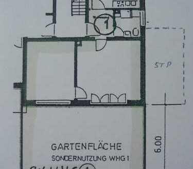 2 Zimmer Erdgeschoß Wohnung mit Gartenanteil - KEIN Erbpacht