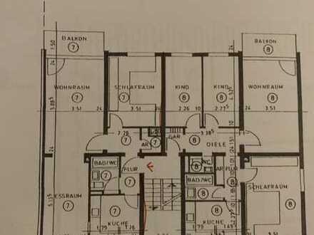 Exklusive, modernisierte 3-Zimmer-Wohnung mit Balkon und EBK in Duisburg