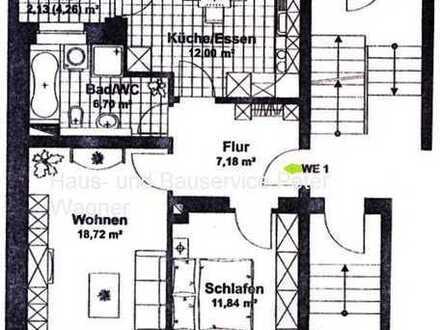 **hübsche 2-Raum Wohnung mit sonnigem Balkon zu vermieten**