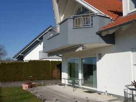 Erdgeschoss-Terrassenwohnung - traumhafte Feldrandlage - schöne Aussicht - Garage - Gartenanteil!