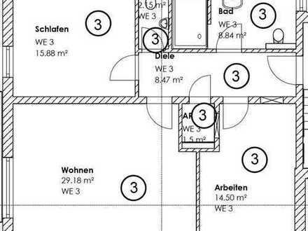 Erstbezug mit EBK und Balkon: stilvolle 3-Zimmer-Wohnung in Wiesbaden