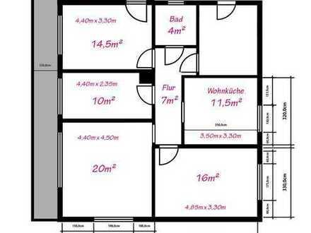 1 Zimmer frei in 4 er WG in renovierter Wohnung