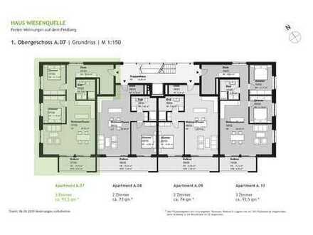 A.07 - 3 Zimmerwohnung im 1.OG mit SW-Ausrichtung - HAUS WIESENQUELLE Feldberg