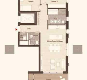 Stilvolle, neuwertige 3-Zimmer-Wohnung mit Balkon und Einbauküche in Offenbach am Main