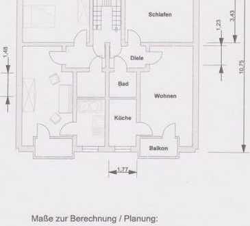 Schöne 2-Raum-Wohnung, KDB, Balkon
