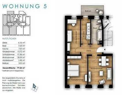 Neubau im altem Stil - Schöne Mietwohnung 3 Zi.