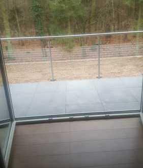 Direkte Waldnähe!!!: ERSTBEZUG: moderne 3,5-Zimmer-Whg. in Mühlheim mit Balkon