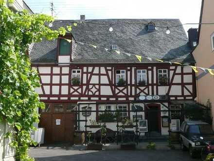 Musikkeller m. Gaststätte, Wohnung & Dachgarten in beliebtem Weindorf Nähe Traben-Trarbach