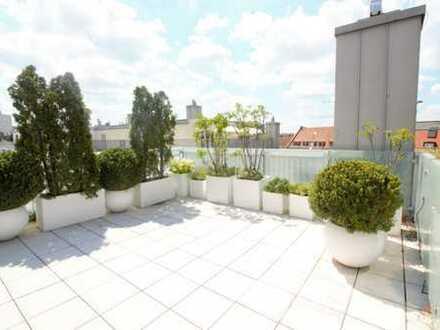SECRET RENT: Luxus Penthouse-Wohnung mit atemberaubendem Sky Deck in den Nymphenburger Höfen