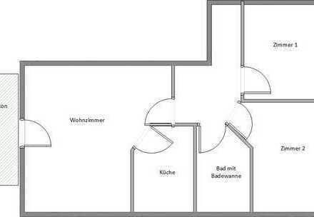 Exklusive 3-Zimmer-Dachgeschosswohnung mit Balkon in Regensburg