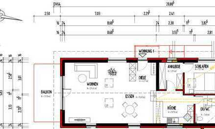 Aussichtslage: 3-Zimmer-Neubau-Wohnung mit EBK und Balkon in Berglen