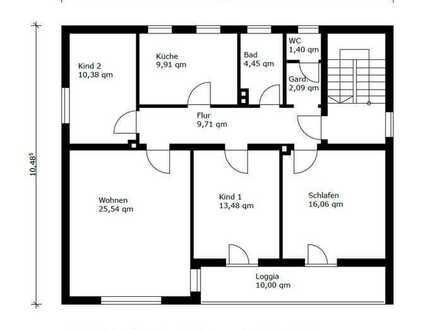 Gepflegte 4-Zimmer Wohnung mit Süd-Balkon, Garten und Einbauküche in Tegernheim - Regensburg