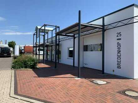 Top Büro/Ausstellung, Lager/Werkstatt und Wohnung mit Garten, alles unter einem Dach!