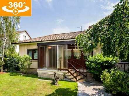 Gepflegter Bungalow (148 m² Wfl., erweiterbar) auf großzügigem Grundstück (940 m²) in MZ-Kostheim