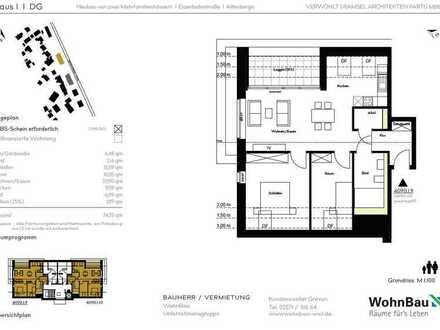 Modern und schick! 3-Zimmer-Neubauwohnung mit Balkon in Altenberge -mit WBS-