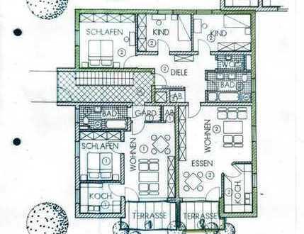 4-Zi-EG-Whg mit EBK, Terrasse und Garten