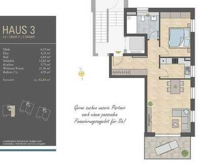 Einziehen und Wohlfühlen! 2 Zi.-Whg. mit großem Wohnzimmer und sonnigem Balkon im 3. OG, H3/W6