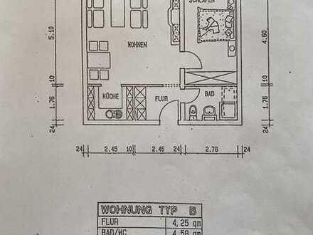 Gepflegte, helle 2-Zimmer-Senioren Wohnung mit Balkon und Einbauküche in Schwäbisch Gmünd Wetzgau