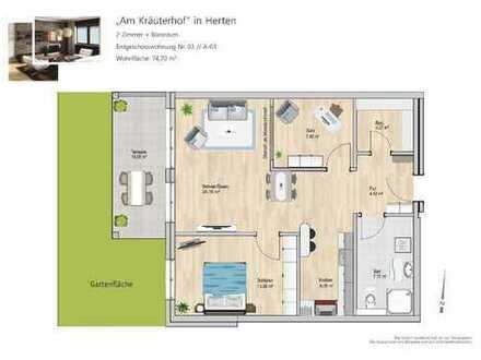 **2 ZW, kleiner Garten + Büroraum**