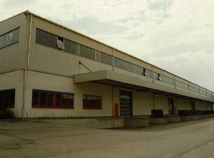 Produktions- und Lagerhalle mit Büroflächen zu vermieten.