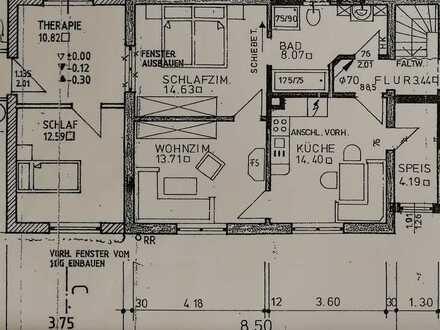 Freundliche 4-Zimmer-Erdgeschosswohnung mit Einbauküche in Kissing