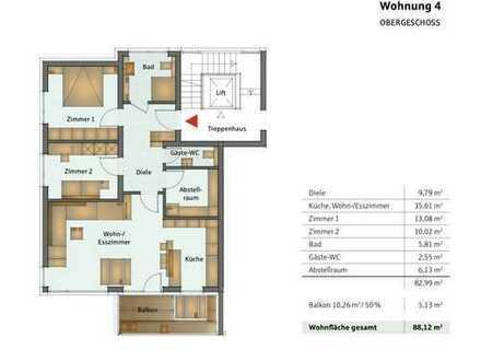Erstbezug mit Balkon: ansprechende 3-Zimmer-Wohnung in Netphen-Deuz