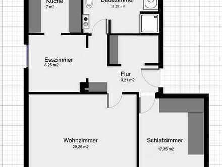 Ansprechende 2,5-Zimmer-Wohnung in Nähe Universität/Technologiepark