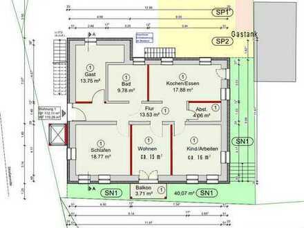 Erstbezug nach Modernisierung: schöne 4-Zimmer-Wohnung mit Balkon in Dietenhofen
