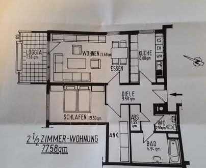 Exklusive 2,5-Zimmer-Hochparterre-Wohnung mit Balkon und EBK in Esslingen Mettingen