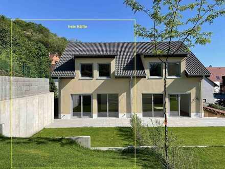 Erstbezug: schöne Doppelhaushälfte mit 6 Zimmern in Weinheim-Sulzbach