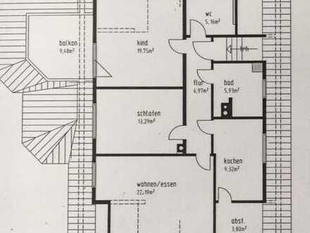 Neckarsulm: Helle 3 Zimmer DG-Wohnung (80,5m2) mit EBK ab 01. Mai 2020 zu vermieten