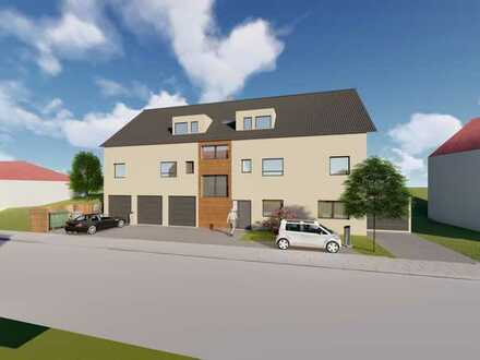 Attraktive 4 ZKB Neubau-Wohnung mit Gartenanteil im Effizienzhaus 55 - Kleinkarlbach