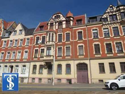 vermietete 2-Zimmer-Erdgeschoss-ETW mit Stellplatz in Denkmalschutzobjekt in Plauen (Ostvorstadt)