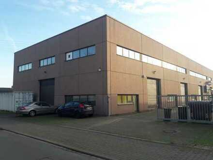 650 qm Hallenflächen und 100 qm Freiflächen mit Büroflächen optional