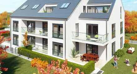 Erstbezug am Ostpark. Helle 3-Zimmer-Wohnung mit Terrasse, Gartenanteil, Tiefgaragenstellplatz