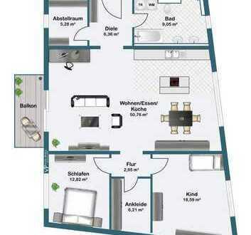 Neubau im Herzen von Rosenheim - 3-Zi-Wohnung mit Balkon!