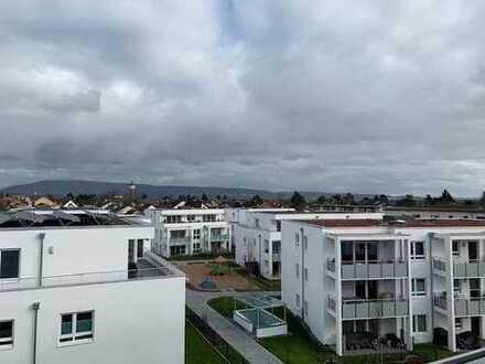Erstbezug mit EBK und Dachterasse: stilvolle 2-Zimmer-Penthouse-Wohnung in Plankstadt