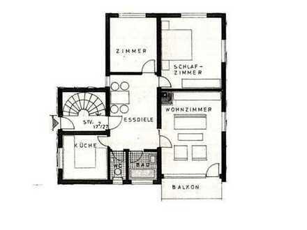 Helle, vollständig renovierte 3-Zimmer-Wohnung mit Balkon in Magstadt