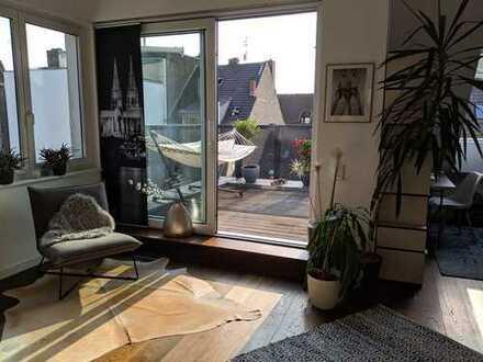 Stilvolle, stylische 3-4-Zimmer-Penthouse-Whg mit 2 Terrassen, kinder ungeeignet, in Köln-Nippes