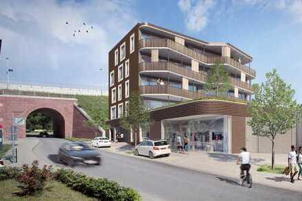 Wunderschöne, lichtdurchflutete 3-Zimmer-Stadt-Wohnung mit großer Terrasse in Architektenhaus