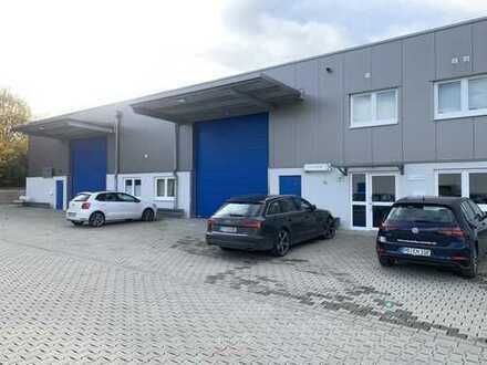 Ca. 328 m² beheizbare Hallen- und ca. 167 m² Bürofläche - Baujahr 2016