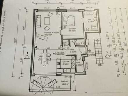Neuwertige 2-Zimmer-Wohnung mit Balkon in Jockgrim