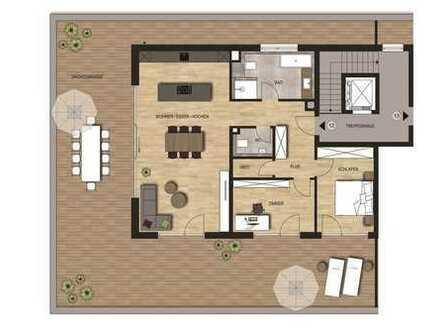 Neubauvorhaben Penthouse 3 - Zimmer Wohnung mit riesiger Dachterrasse