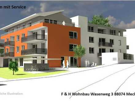 """Erstbezug!! 2-Zi. Penthouse-Wh. mit Bergsicht!! """"Wohnen mit Service"""" in Schnetzenhausen!!"""