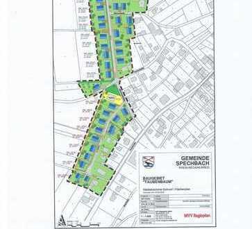 """Erweiterbares Baugrundstück im Neubaugebiet """"Taubenbaum"""" in Spechbach"""