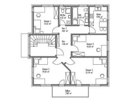 15 m² Zimmer in 4er WG in Pentling